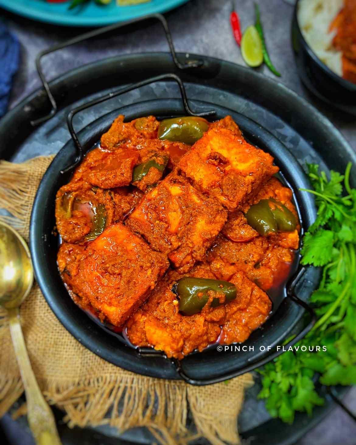 Paneer Tikka Masala Restaurant Style