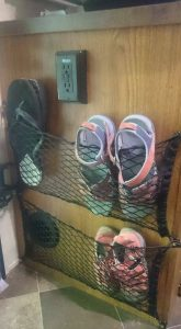 RV Storage Hacks - Shoe Storage Net