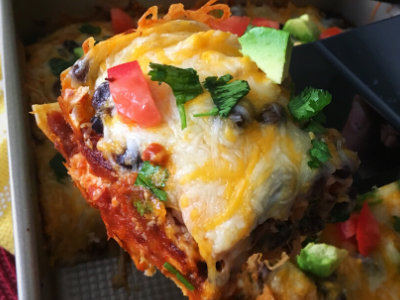 Healthy Chicken Enchilada Casserole