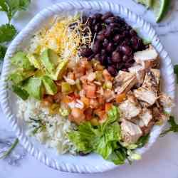 copycat chipotle chicken burrito bowl