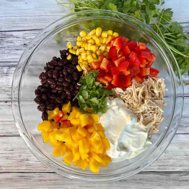 southwest chicken salad ingredients