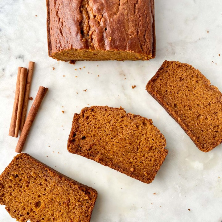 GF pumpkin bread