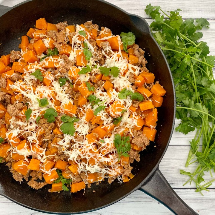Sweet Potato And Ground Turkey Skillet Pinch Of Wellness