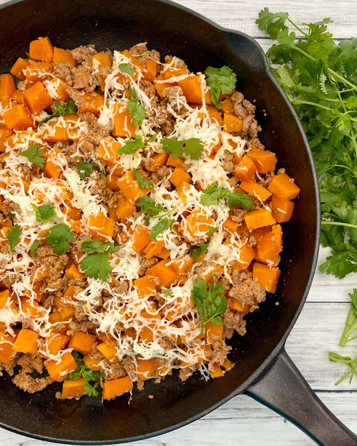 ground turkey and sweet potato skillet
