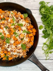 ground turkey and sweet potato skillet