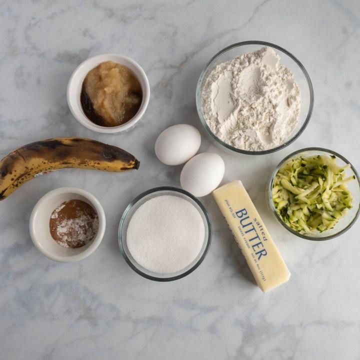 Zucchini Banana Muffins Ingredients