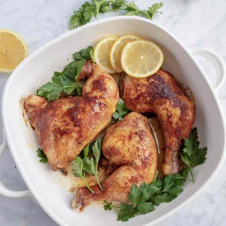 Oven Baked Chicken Quarters