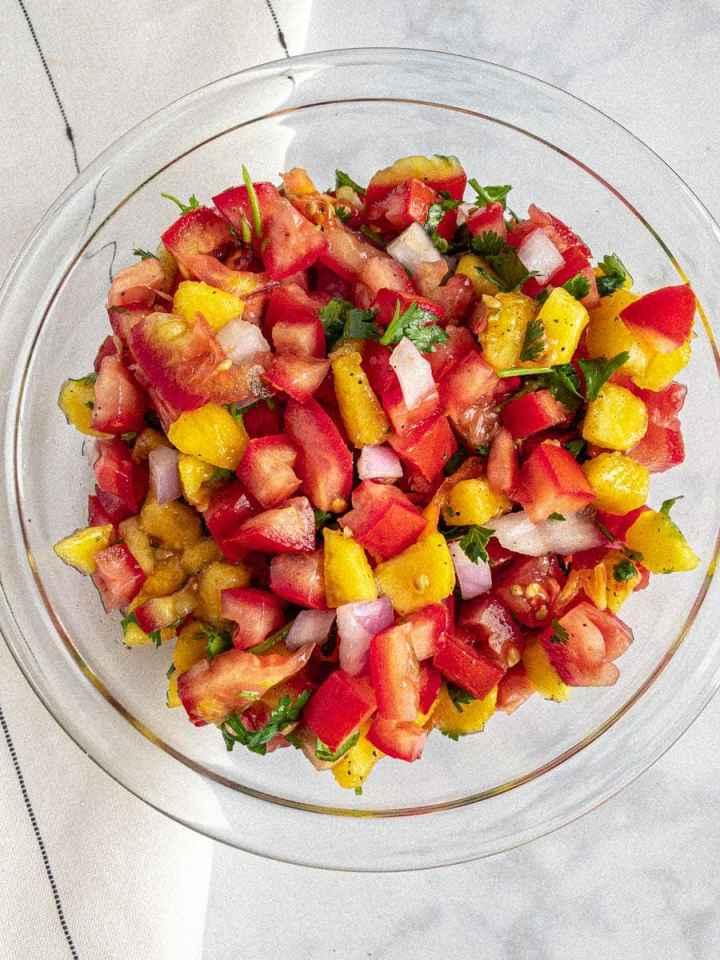 Peach-Habanero-Salsa