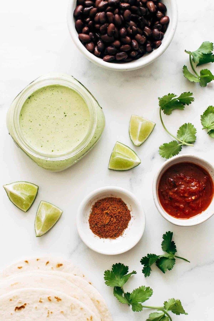 Ingredients for Crispy Black Bean Tacos