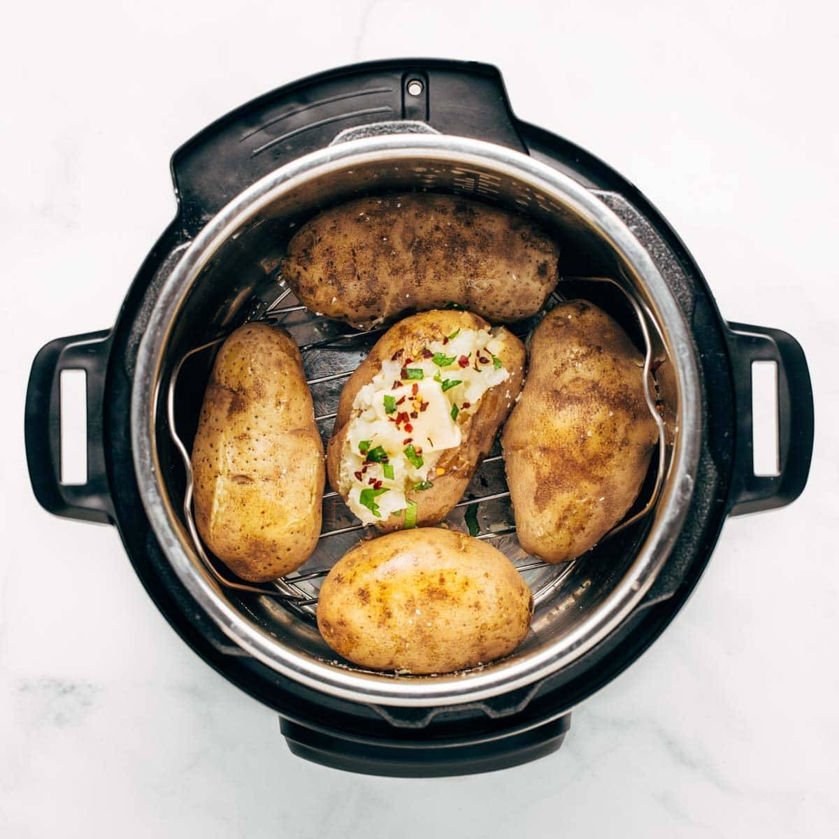 Potatoes in the Instant Pot.