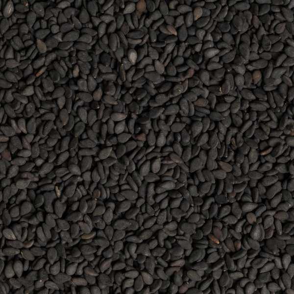 dark black sesame close up