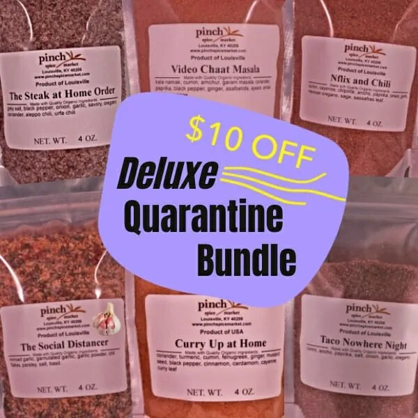 $10 off deluxe 6 pack quarantine spices