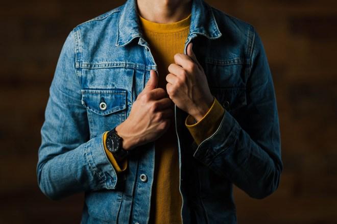 Man wearing a blue jacket