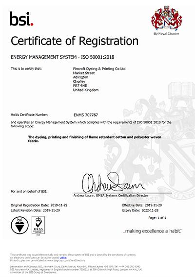bsi. certificate of registration