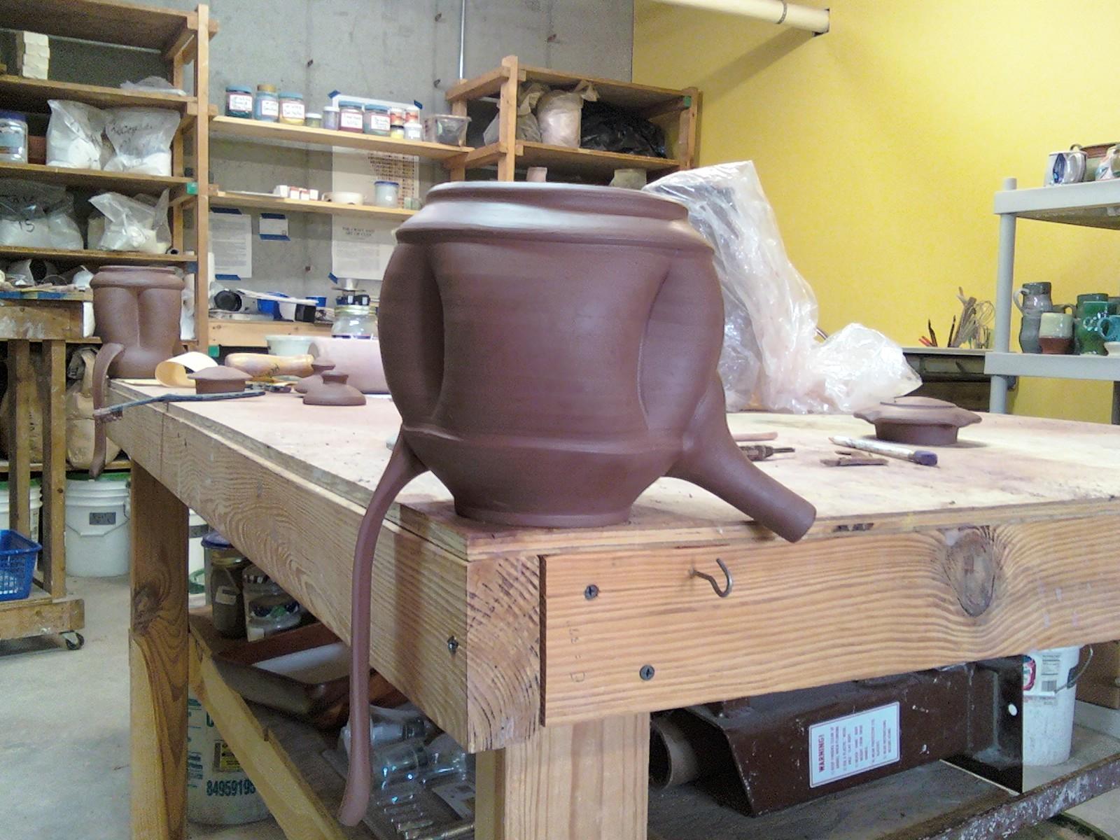 Teapot - handle drying