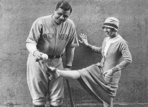 Doris with Babe Ruth