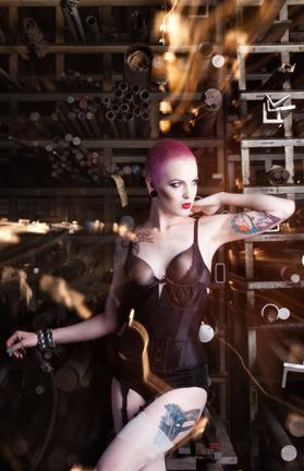 Model: Kaia Bellanca.  MUA: Amber Downs.  Styling: Ladonna Stein Concept: Brutal Industries Photo: H James Hoff