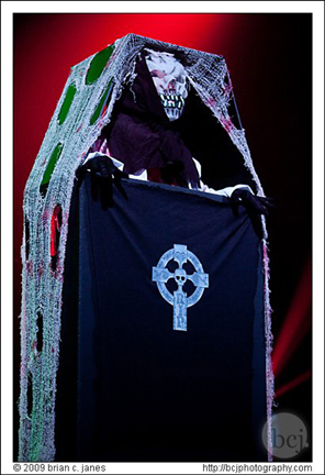 Viva La Muerte in her Crypt Keeper act.  Photo: Brian C Janes
