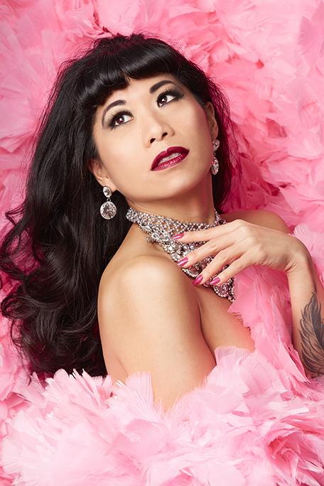 Calamity Chang wearing her signature shade.  Photo: Webb