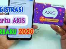 Cara Registrasi Kartu Axis Baru