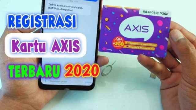 Cara Registrasi Kartu Axis Baru Dengan 4 Metode Pilihan