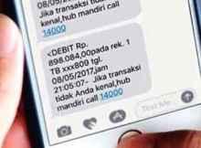 Cara SMS Banking Mandiri