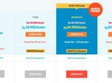 Biaya hosting dan domain