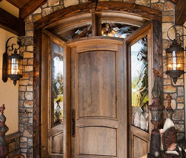 Custom Entry Wood Door With Sidelights