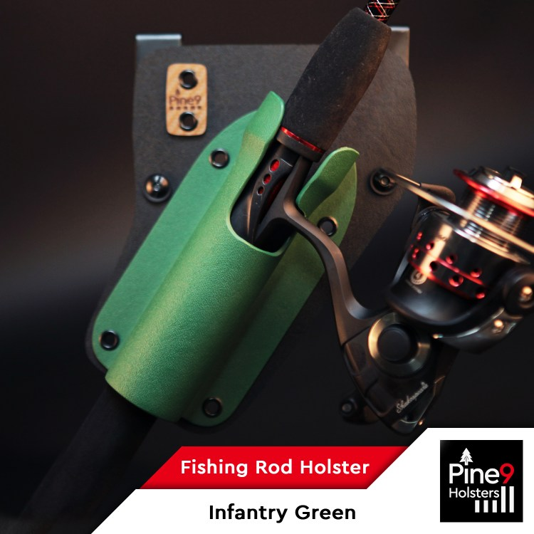 Fishing-Rod Holster_with Color Label_Infantry Green_2