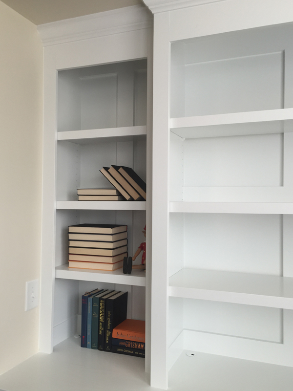 Built In Bookcase PineMain