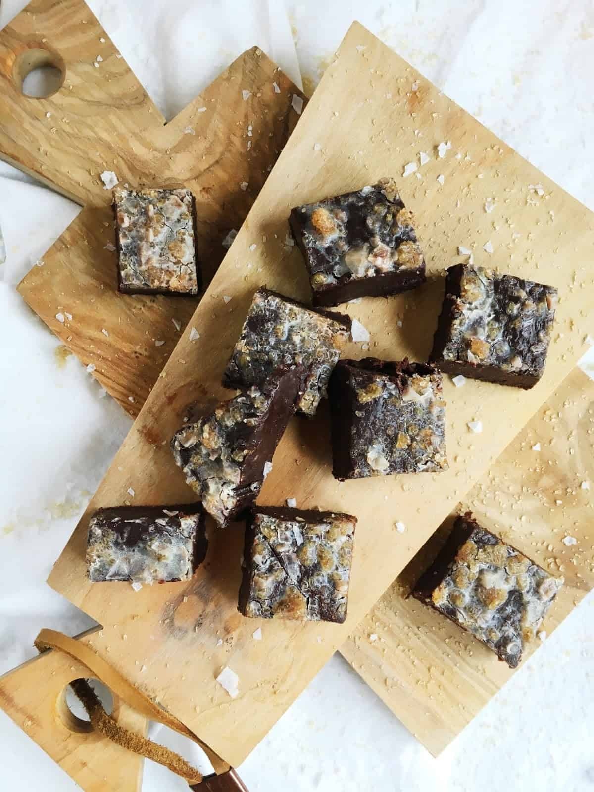 Chocolate Fudge with Boozy Sugar