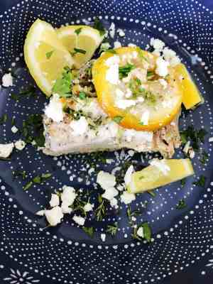 roasted chicken with goat cheese and lemons