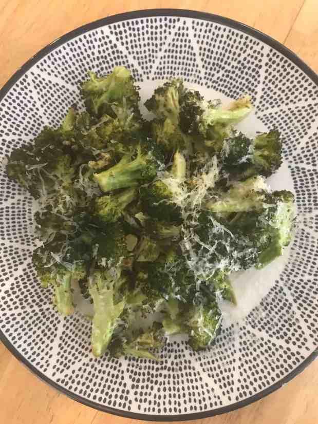 lemon parmesan roasted broccoli