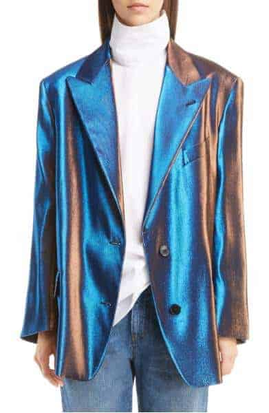 Dried Van Noten Two-Tone Lamé Blazer