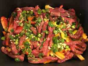Crock Pot Asian Steak + Peppers