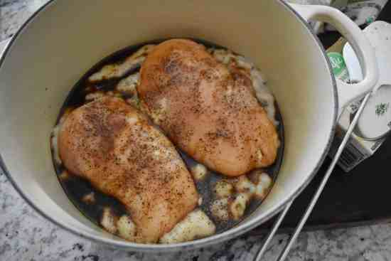 chicken in cream of mushroom