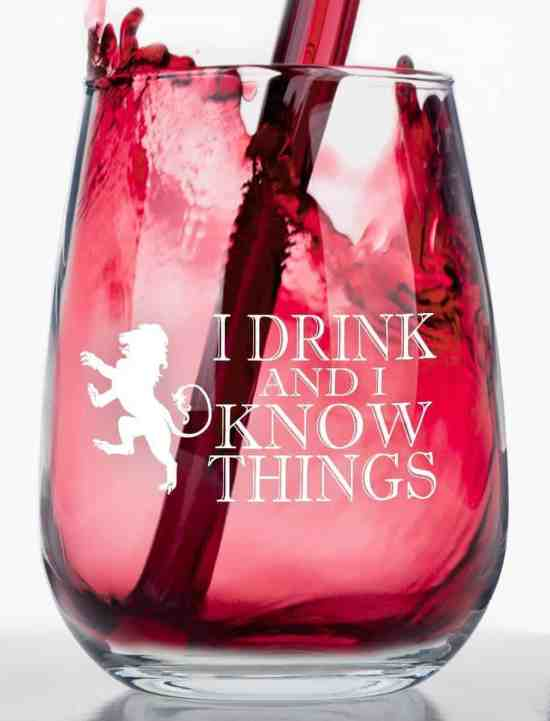 I Drink and Know I Things Glass