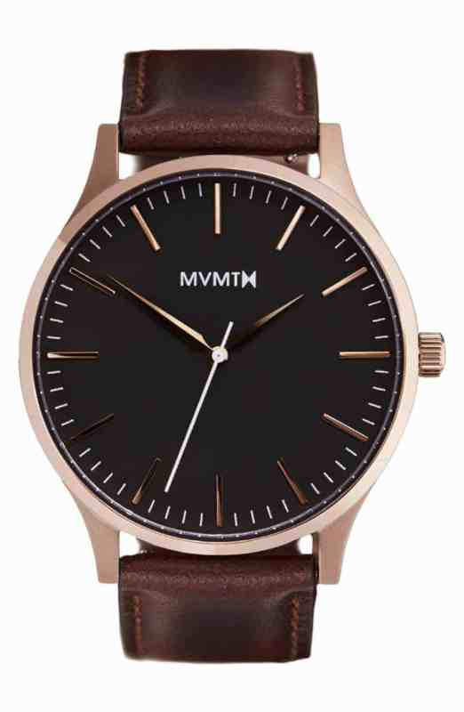 MVMT Leather Strap Watch