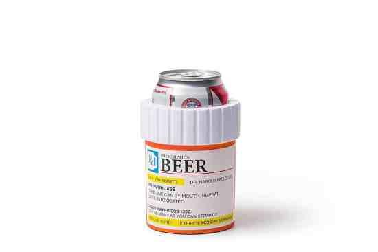 Prescription Pill Bottle Beer Koozie