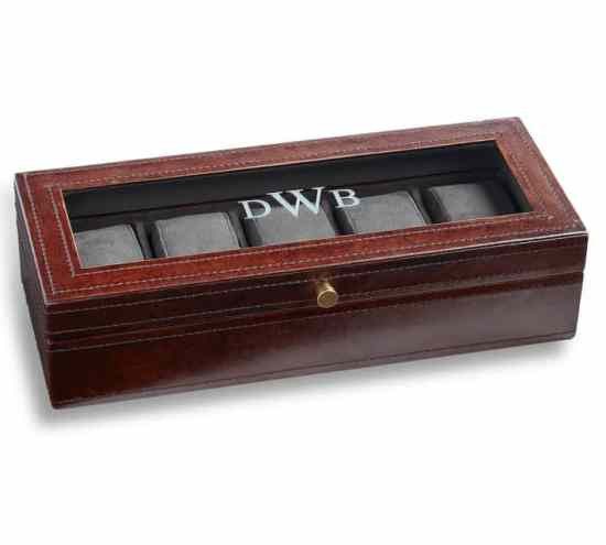 Saddle Leather Watch Box