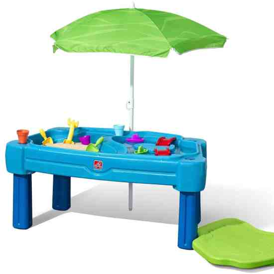 Step2 Cascading Cove Sand & Water Playset with Lid & Umbrella Playset