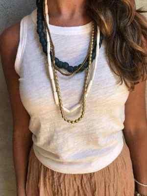 twine & twig indigo layer necklace