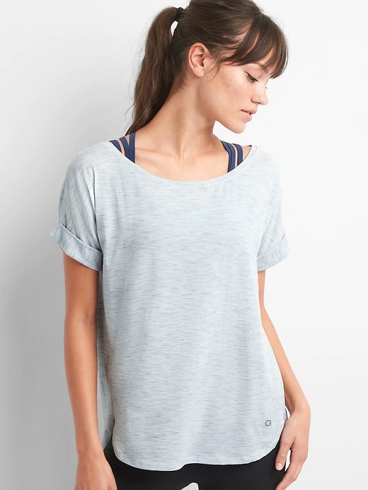 Gap Breathe Stub Roll-Sleeve Tee