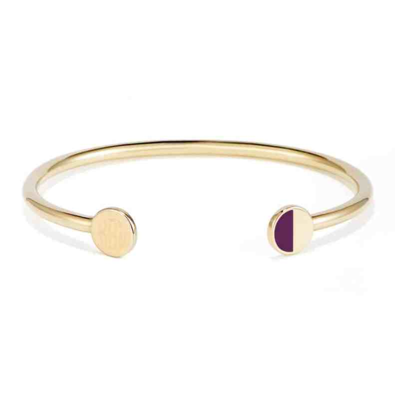 brook & york somerset colorblock signet cuff