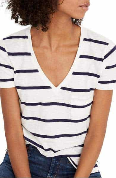 Madewell V Neck Pocket Tee