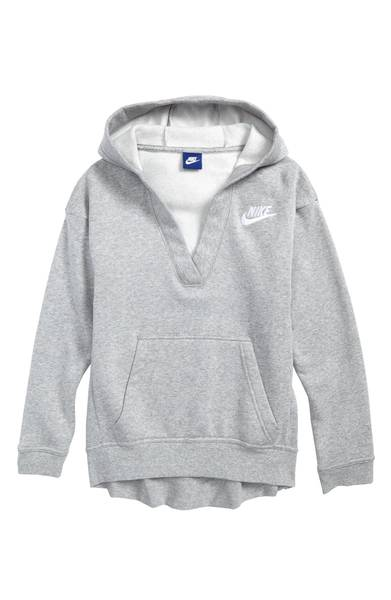 nike v neck pullover hoodie