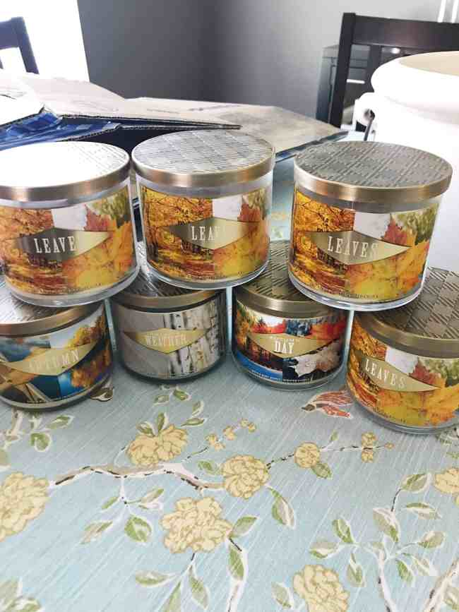 fall candles bath and body works