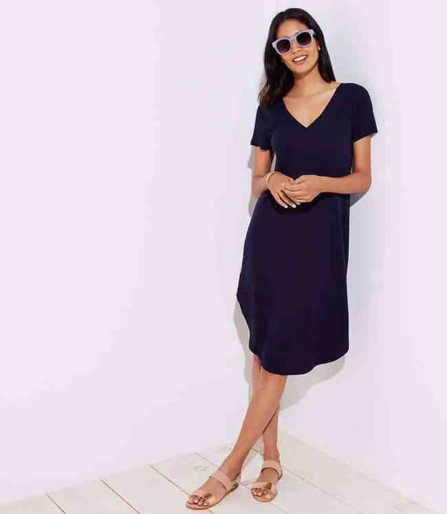 loft beach swing tee dress