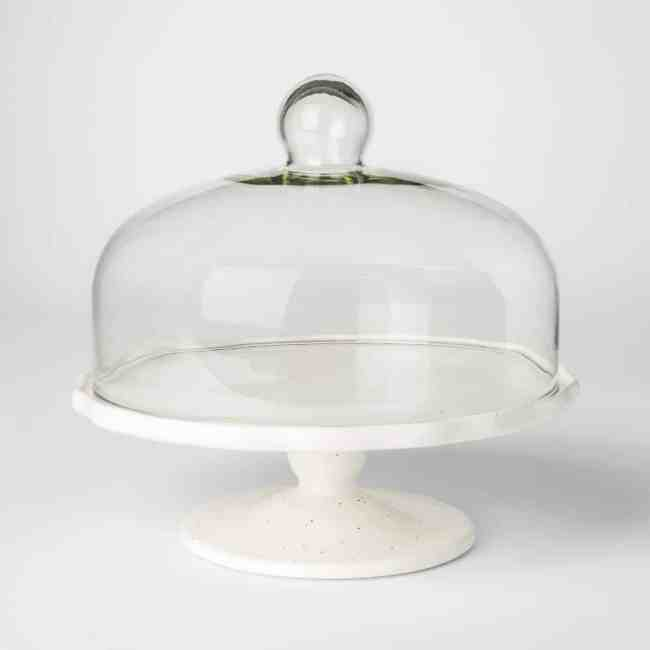 Stoneware Dessert Stand with Lid