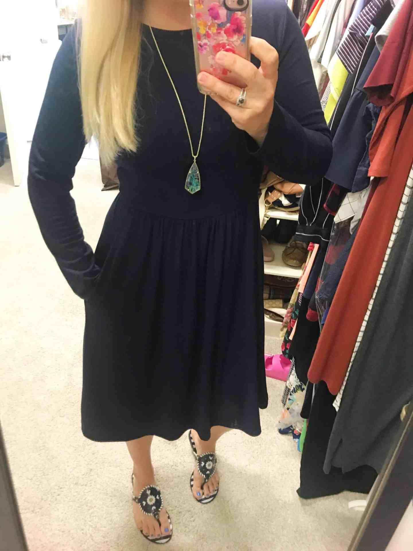 Pocket Empire Waist Dress Amazon